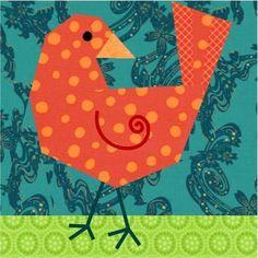 Birdie Bird Paper Pieced Quilt Block