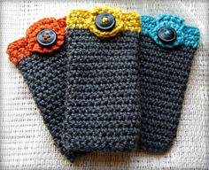 Crochet Glasses Case with Button Closure - Made to Order. $8.00, via Etsy.