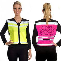 highvisibility.uk.com Ladies Equisafety HiViz Air Waistcoat Reflective Safety Cycle Horse Riding XL