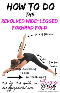 A helpful pose for beginners so they can achieve the splits, this variation of the forward bend also detoxify the stomach and the mind. Aside from that, it is a full-body yoga twist that improves coordination.