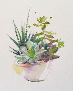 love this succulent bowl by John Keeling Paintings