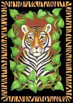 ●•°‿✿⁀Zoo Safari‿✿⁀°•● Save The Tiger, Illustration Story, Tiger Art, Decoupage, Cute Cats And Dogs, Safari Animals, Wildlife Art, Horse Art, Whimsical Art