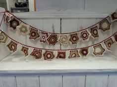Beautiful crochet bunting from Sally