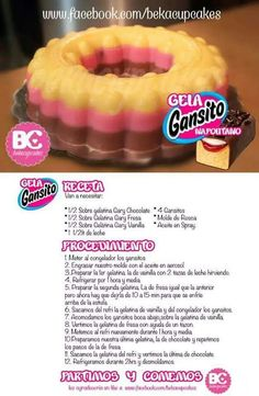 Gelagansito Gelatin Recipes, Jello Recipes, Mexican Food Recipes, Baking Recipes, Sweet Recipes, Dessert Recipes, Jello Pudding Desserts, Jello Cake, Gelatina Jello