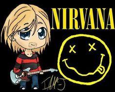 Nirvana Tattoo, Nirvana Band, Nirvana Kurt Cobain, Donald Cobain, Rockn Roll, Foo Fighters, Band Posters, Cool Paintings, Music Stuff