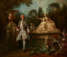 Nicolas Lancret, Portrait of the Actor Grandval, c. 1742, oil on canvas, overall: 68.58 x 85.09 cm (27 x 33 1/2 in.), framed: 101.92 x 11.43 cm (40 1/8 x 4 1/2 in.). Indianapolis Museum of Art, Gift of Mr. and Mrs. Herman C. Krannert, 60.247.