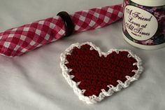 Ravelry: Heart Coaster pattern by Susan Lowman for Valentine's Day
