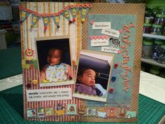 Baby boy scrapbook page layout at she can scrapbook and hobby center