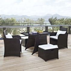 Modway Artesia 5 Piece Outdoor Patio Dining Set