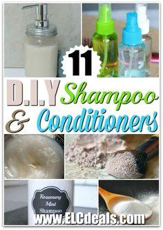 11 D.I.Y. Shampoo & Conditioner Recipes!