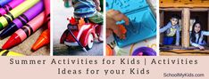 Summer Activities for Kids List Of Activities, Summer Activities For Kids, Sports Activities, Summer Kids, I Am Getting Bored, Play Stations, Swimming Classes, School Reviews, Watch Cartoons