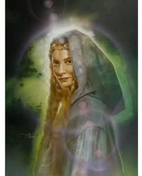 Galadriel, the only woman of the Noldor to stand that day tall and valiant among the contending princes, was eager to be gone.  No oaths she swore, but the words of Fëanor concerning Middle-earth had kindled in her heart, for she yearned to see the wide unguarded lands and to rule there a realm at her own will.