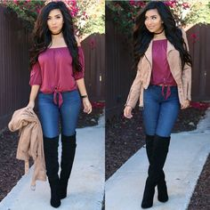 Credit to : 😊💜 Extensions bambina set code 💜monica💜 Top Jacket Jeans code 💕xomonicas💕 Boots ( last season) Cute Fall Outfits, Fall Winter Outfits, Chic Outfits, Autumn Winter Fashion, Trendy Outfits, Summer Outfits, Fashion Outfits, Fashion Trends, Trending Fashion