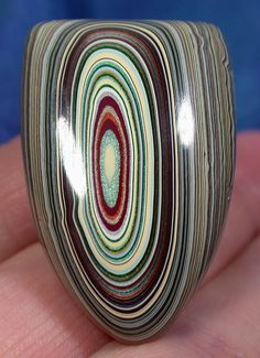 Suzybones Fordite - going to try and imitate this in polymer clay..........