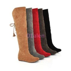 Cheap women winter shoes, Buy Quality winter shoes directly from China shoes quality Suppliers: Hot Quality Womens Boots Faux Suede Over the Knee Flat Warm Boots Comfortable Thigh High Boots Lace-up Woman Winter Shoes Thigh High Boots Flat, Womens Thigh High Boots, Flat Boots, Wedge Boots, Shoe Boots, Women's Boots, Riding Boots, Warm Snow Boots, Shoes Heels Wedges