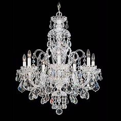 "Schonbek Olde World Collection 25"" Wide Crystal Chandelier - #N2654 