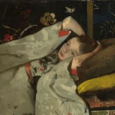 Girl in a White Kimono(Detail) - George Hendrik Breitner 1894 Dutch. 1857-1923