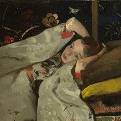 Girl in a White Kimono(Detail) - George Hendrik Breitner 1894 Dutch. 1857-1923