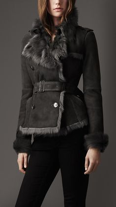 Belted Shearling Jacket | Burberry