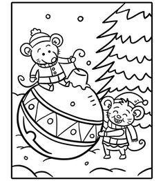 These free Christmas coloring pages are the perfect activity to keep kids busy during school break.
