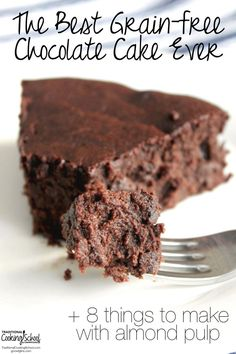 """My husband named this """"The Best Chocolate Cake Ever"""". He actually told me to throw out all of my other cake recipes, including those decadent sugar-laden treats I made before we started changing our diet. 