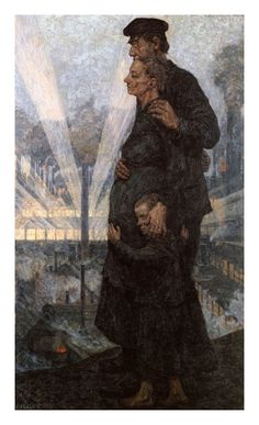 Futuro, 1920 byHans Baluschek (German 1876 - 1935) Berlin, Märkisches Museum