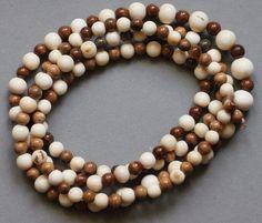 Kette Mammut Bein Wooly Mammoth Tusk Beads Perlen Kugel 5 - 8mm | eBay