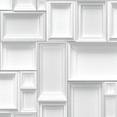 Muriva Just Like It Frames Picture Frame Motif Pattern Designer Wallpaper (White Grey J66309)