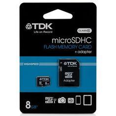 Tarjeta De Memoria Micro SD 8 GB TDK Clase 10 Mas Adaptador - http://complementoideal.com/producto/almacenamiento/tarjeta-de-memoria-micro-sd-8gb-tdk-clase-10-adaptador-modelo-8726/  - Tarjeta Micro SD de 8Gb Clase 10 para poder usarlo con tu SmartPhone, Tablet o cualquier dispositivo que admita tarjetas Micro SD. Lleva tus archivos, música, vídeos a cualquier lado de forma fácil. La Tarjeta Micro SD de 8Gb Clase 10 te permitirá transferir archivos a gran velocidad, respe