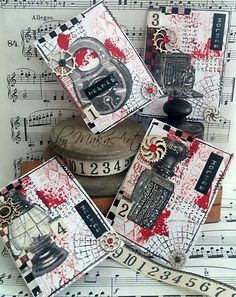 Welcome! Today I would like to share with you my mixed media tag for the door, made for ScrapArt.cz . This tag I created in red, white ...