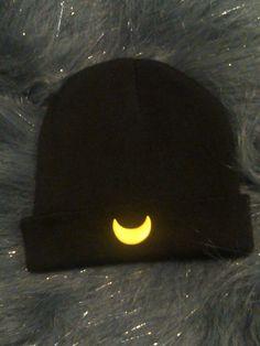 sailor moon beanie/kawaii luna beanie/moon beanie/pastel goth beanie by PrettysAndMore on Etsy https://www.etsy.com/listing/212893548/sailor-moon-beaniekawaii-luna-beaniemoon