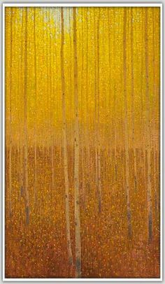 David Grossmann > Falling Yellow Leaves Oil on Linen Panel, Abstract Landscape, Landscape Paintings, Impressionist Landscape, Tree Artwork, Yellow Leaves, Yellow Painting, Cool Paintings, Painting Inspiration, Scenery