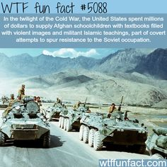 Hmm...that may've come back to bite us in the ass. | The Soviet invasion of Afghanistan - WTF fun facts