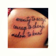 Serenity Prayer, shortened. I think this is super cute! Font, placement and everything!