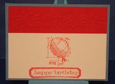 TH Mini Blueprints 4 Balloon Bday card w/ Darice Celebrate embossing border