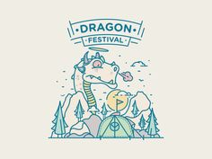 Dragon Festival by Turgay Mutlay #Design Popular #Dribbble #shots