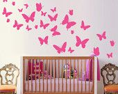 butterflies + wall decoration