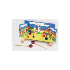 """Teatrino magnetico  Il set è composto dalle scenografie (un esterno e un interno) e da una piattaforma su cui i vari personaggi """"magnetici"""" reciteranno grazie alle aste magnetiche (incluse nella confezione) che i bambini muoveranno sotto la piattaforma."""