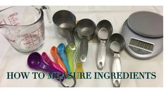 How to Measure Ingredients Yolanda Cakes, Cake Youtube, Cake Pictures, Baking Tips, Ice Cream Scoop, Measuring Spoons, Cake Decorating, Decoration, Pastries