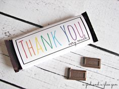 free candy bar wrapper thank you (and congrats) printables! - A girl and a glue gun