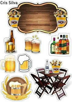 O símbolo para editar. Cake Design For Men, Beer Decorations, Diy And Crafts, Crafts For Kids, Art Drawings For Kids, Birthday Cake Toppers, Party Cakes, Decoupage, Cake Decorating