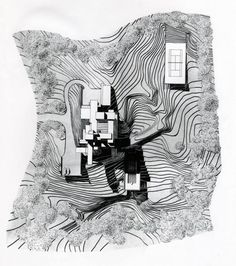 Bass Residence by Paul Rudolph model