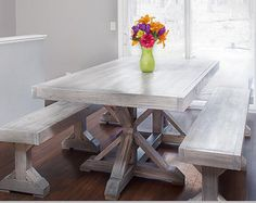 Farmhouse Trestle Table DIY Kit