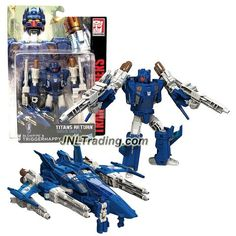 Hasbro Year 2016 Transformers Titans Return Series 5-1/2 Inch Tall Figure - BLOWPIPE & TRIGGERHAPPY with Blasters & Card (Vehicle: Fighter Jet)