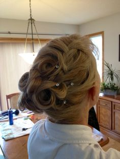 Updo for the Policeman's Ball