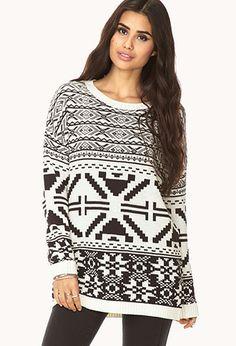 Oversized Fair Isle Sweater | FOREVER21 - 2079673709