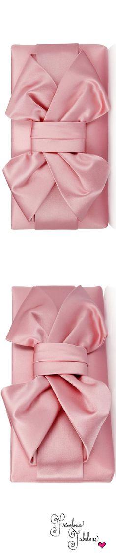 Frivolous Fabulous - Valentino Pink Silk Satin Bow Evening Clutch