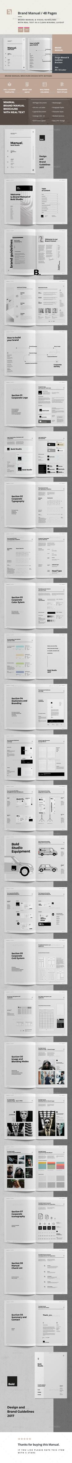 Brand Manual Template InDesign INDD