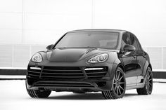 Love black rims on the Cayenne