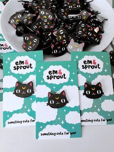 Luna Sailor Moon Cat Enamel Pin